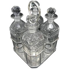 Sheffield Plate Regency Liquor Frame with Four Bottles, circa 1820