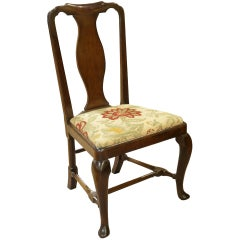 Queen Anne Period Walnut Side Chair