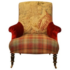 Napoleon III Armchair Upholstered in 18th Century Aubusson Tapisserie