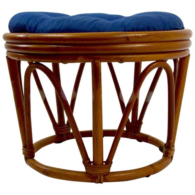 Three-Bamboo Ottoman, Poufs, Footrests