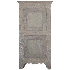 French Corner Cupboard Original Paint, 18th Century