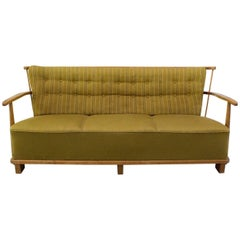 Fritz Hansen 1590A Rare Three-Seat Sofa with Original 1940s Fabric