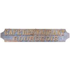 French Restaurant Signboard