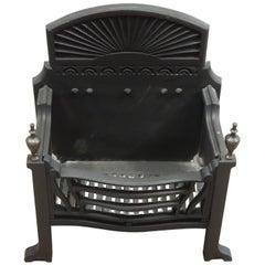 Scottish Victorian Antique Cast Iron Dog Grate Fire Basket