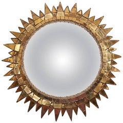"Mirror ""Sorcière"", Model ""Soleil À Pointes N°3"" by Line Vautrin, circa 1955"