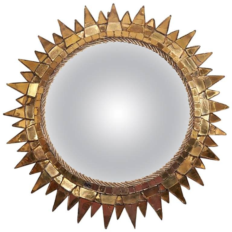 "Line Vautrin, Mirror ""Soleil à pointes n°3"", circa 1955 For Sale"