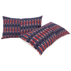 Pillow Cases Made from an Early 20th Century Syrian, Ikat Panel