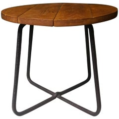 20th Century French Coffee Table Made of Walnut and Wrought Iron, 1960s