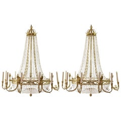 Two Substantial 18th Century Style Chandeliers