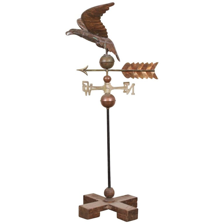 Copper and Brass Weathervane with Eagle