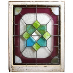 Colorful Victorian Window with Beveled Diamond