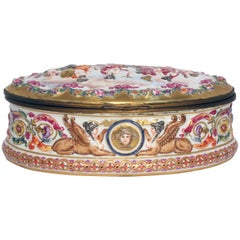 Antique Capo di Monte Oval Casket