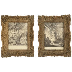 Pair of Antique French Picture Frames in Their Original Finish