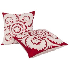 Pillow Cases Made Out of a Mid-20th Century Uzbek Samarkand Suzani