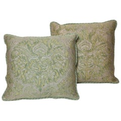 Pair of Fortuny Fabric Cushions in the Demedici Pattern