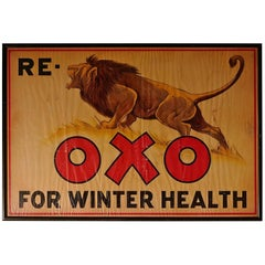 Charming Advertising Sign, Re Lion Oxo for Winter Health