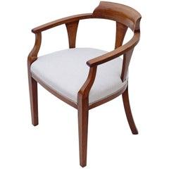 Antique Quality Edwardian Inlaid Mahogany Corner Arm Tub Chair