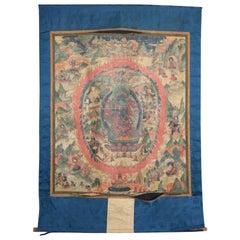 Tangkasnet Thangka Tibetan Buddhist Textile Scroll Painting, 19th Century