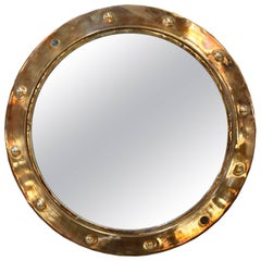 Original Brass Porthole Mirror
