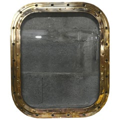 Bronze Rectangular Ship's Porthole