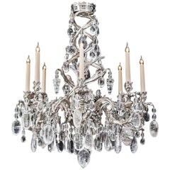 Highly Important Rock Crystal Chandelier in Louis XV Manner
