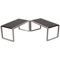 Pair of Tecno Modernist Side Tables