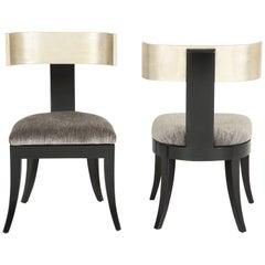 Pair of Klismos Chairs by J Robert Scott