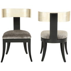 Pair of Klismos Chairs by J Robert Scott