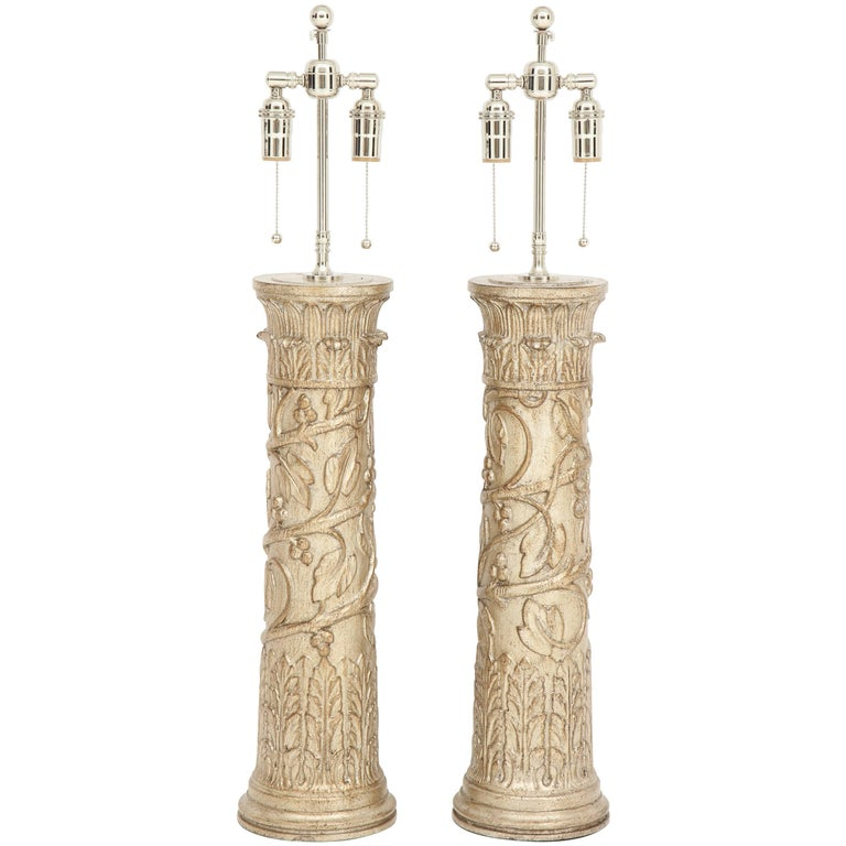 Pair of James Mont Lamps