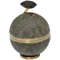 Shagreen Box With Bronze Details