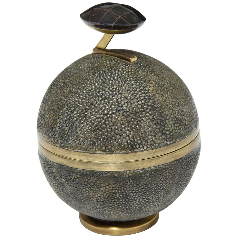 Shagreen and Bronze Decorative Box