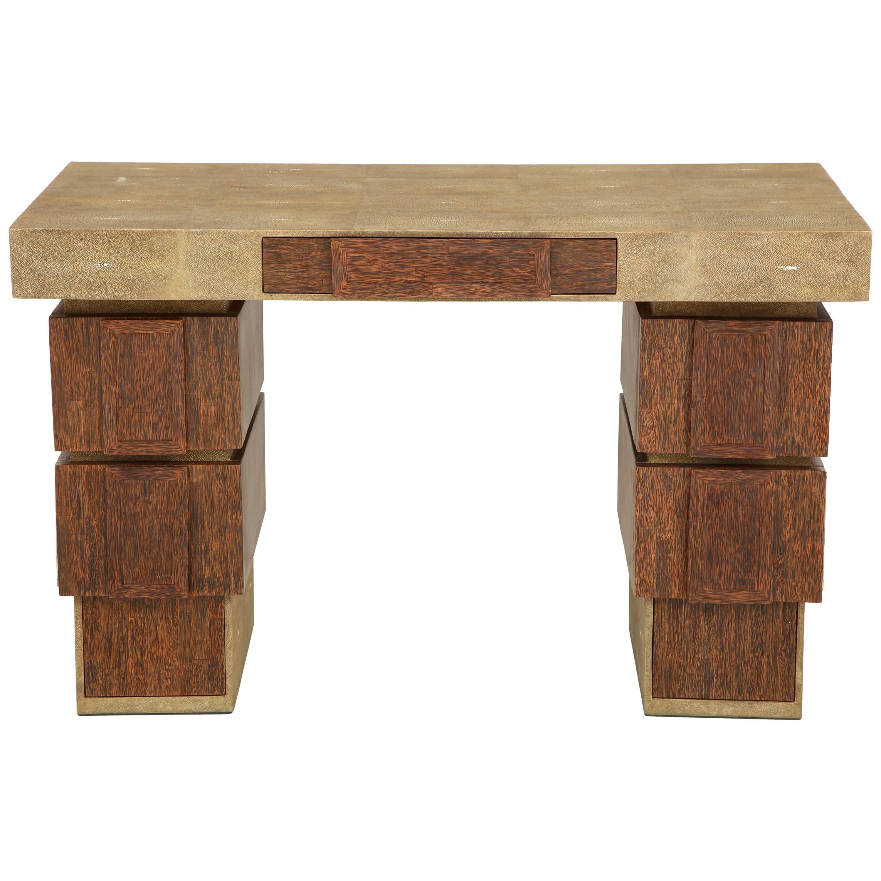 Shagreen And Palm Wood Desk Offered By Area ID