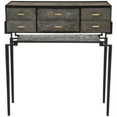 Shagreen Cabinet With Bronze Details
