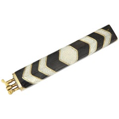 Shagreen and Bronze Lighter Offered by Area ID