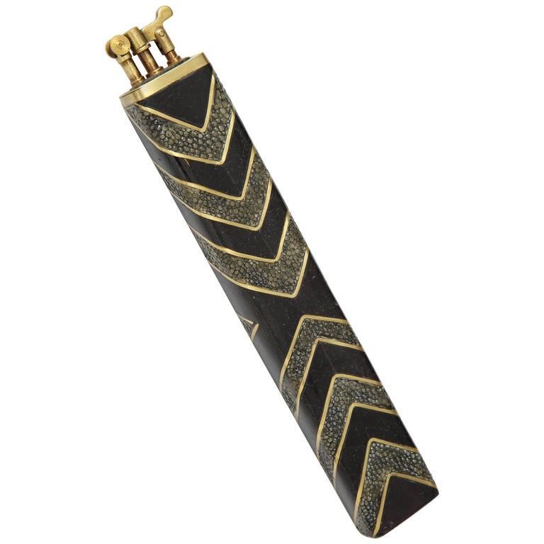 Shagreen Lighter Offered by Area ID For Sale