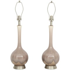 Orchid Ombre Glazed Porcelain Lamps