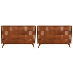 Edmund Spence Chest of Drawers, Pair