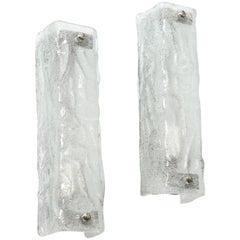 Kalmar Rectangular Ice Glass Sconces