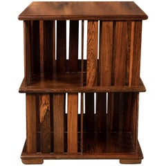 """Rosewood Mexican Modernist """"Perlman"""" Bookcase by Don Shoemaker, 1960s"""