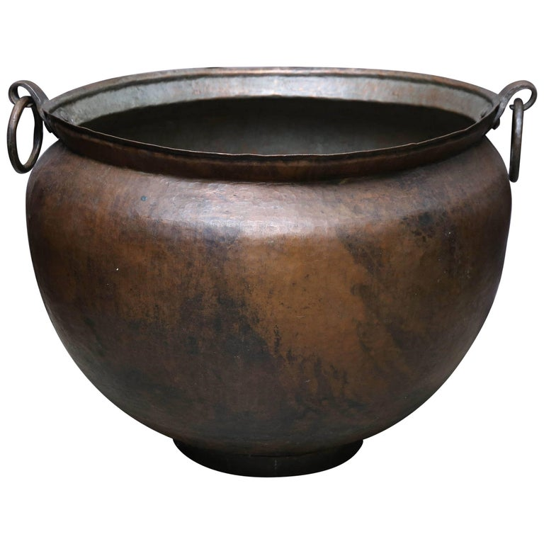Late 19th Century Large Copper Alloy Cooking Vessel From A