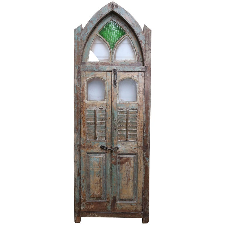 Mid-19th century Teak Wood Gothic Window from a Portuguese Colonial Cathedral