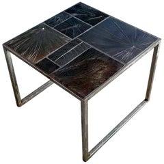 Customizable Contemporary Handmade Cast-Tile Glazed Ceramic Coffee Table