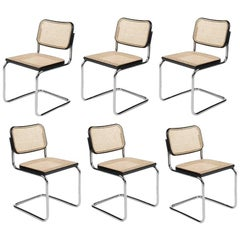 "Set of Six ""Cesca"" Chairs by M. Breuer for Gavina, circa 1970"