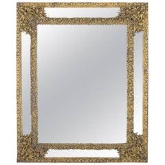 Dutch Baroque Brass Rectangular Mirror