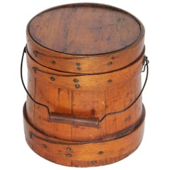 19th Century Shaker Style Sugar Bucket from New England