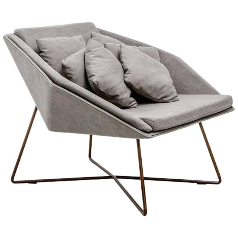 Contemporary Hexagonal Armchair, Brazilian Design by Arthur Casas