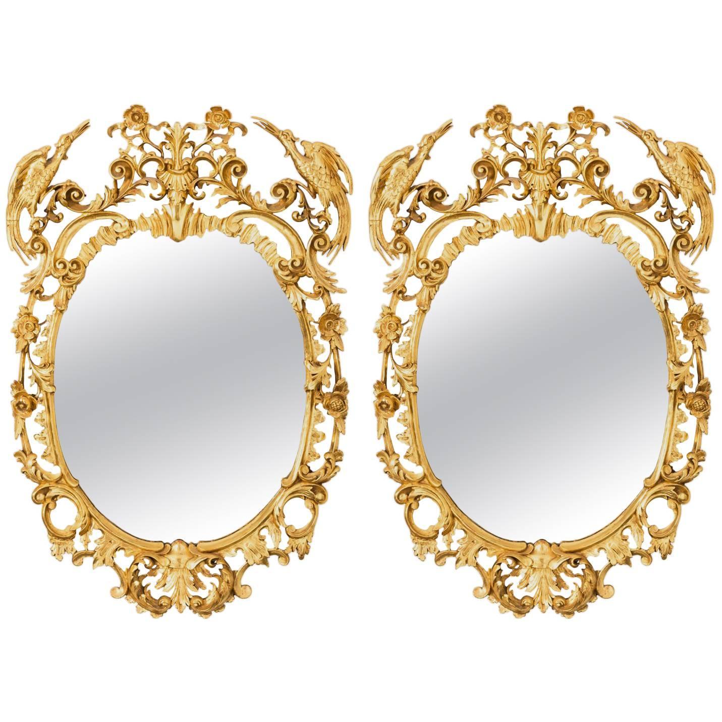 George III Style Oval Mirrors