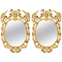 George III Style Oval Mirrors