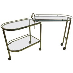 Brass Bar or Tea Cart