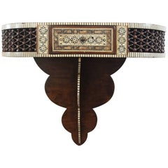 Antique Syrian Hanging Wall Console with Matching Mirror